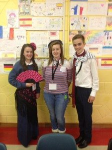 Desmond College Students Participating in some Language Fun at their Open Night on 9th October 2014