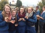 Desmond College Students Planting Crocus for Holocaust Survivors October 17th 2014