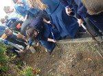 Desmond College Students Planting Crocus for Holocaust Survivors on October 17th 2014