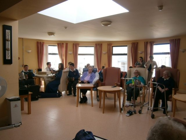 On the 1st Oct 2014 Desmond College students celebrate Positive Aging Week with Residents at St Ita's Nursing Home