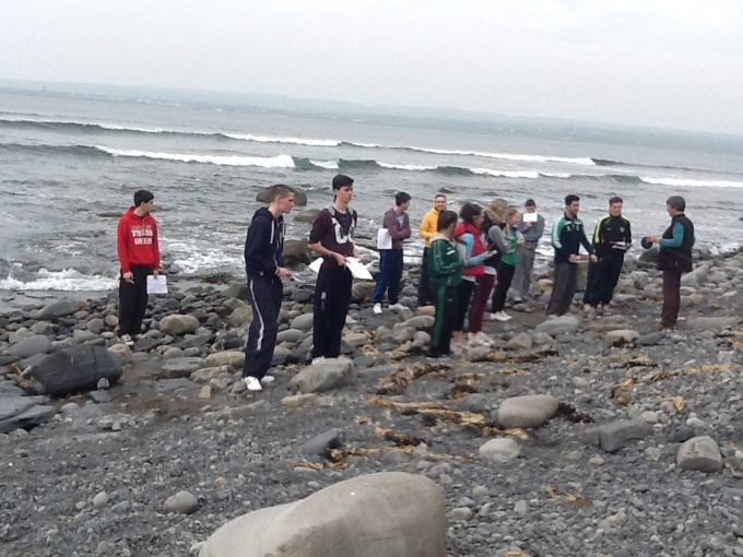 2014-2015 Leaving Certificate Students on their Geography Trip