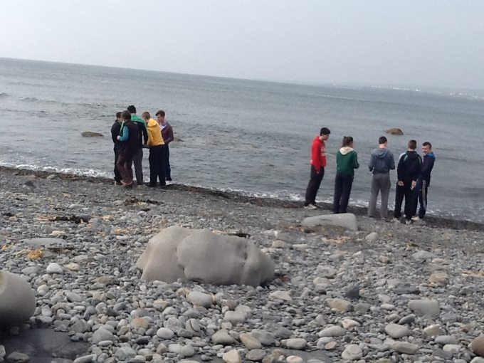 Desmond College Leaving Certificate Students on Geography Trip September 2014