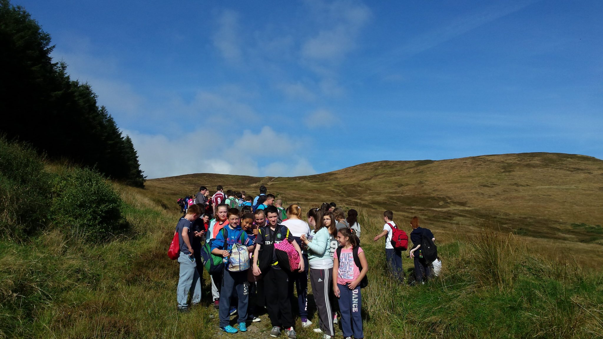 Transition Year Students 2014 with their First Year Buddies on the 2014 Buddy Hike