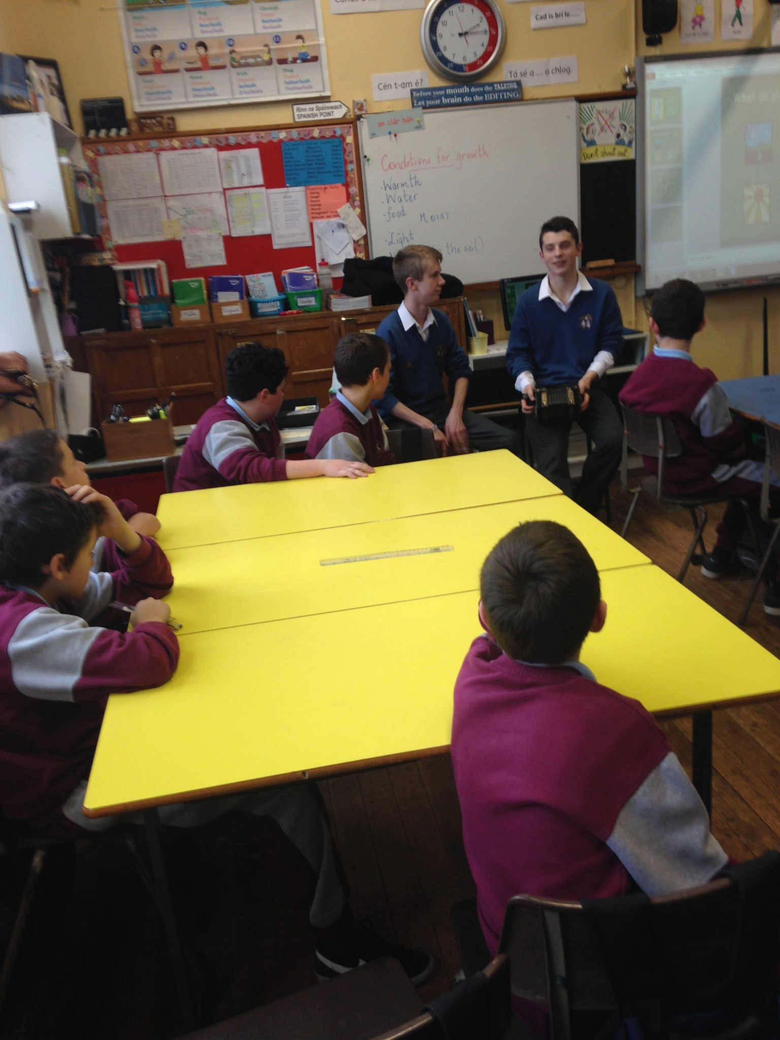 Desmond College Students visiting Locally Primary Schools