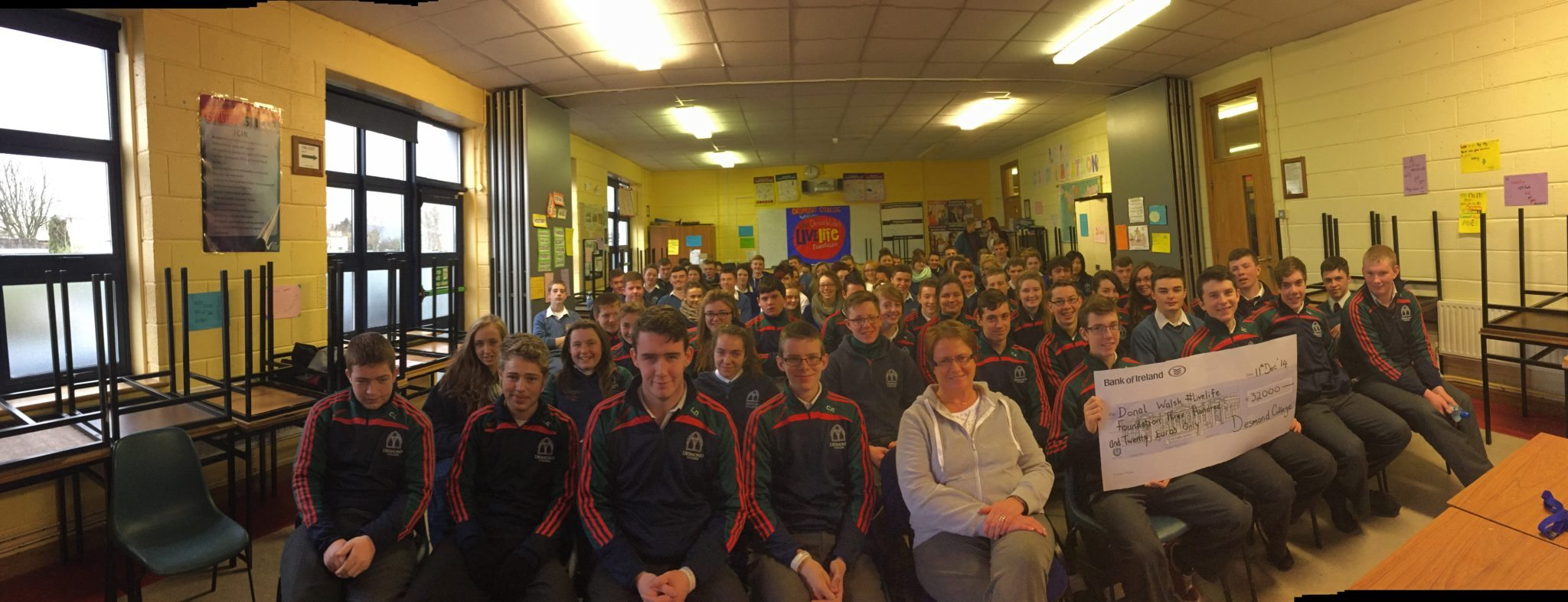 Donal Walsh Anti-Suicide Talk by his mother, Elma Walsh on 11th December 2014 at Desmond College : #LiveLife Foundation
