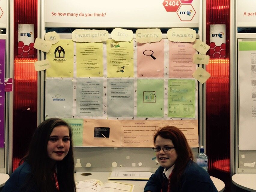 Desmond College Students Enjoying the BT Young Scientist : An investigation into quantity guessing