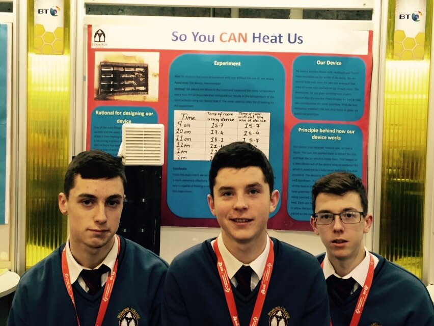 Desmond College Students Enjoying the BT Young Scientist : So you CAN heat us