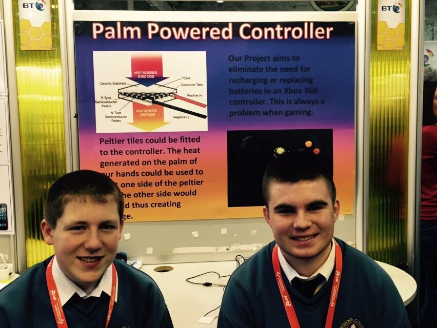 Desmond College Students Enjoying the BT Young Scientist : Palm Powered Controller