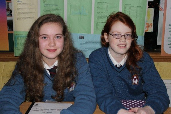 """So How Many Do You Think???""  A Junior Mathematical Young Scientist Project presented by Siobhan Hurley & Claire Nolan at the launch of Young Scientist Week in Desmond College."