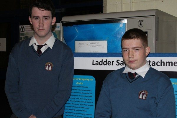 Liam Dowling and Conor Leahy with their Technology Project on Ladder Safety