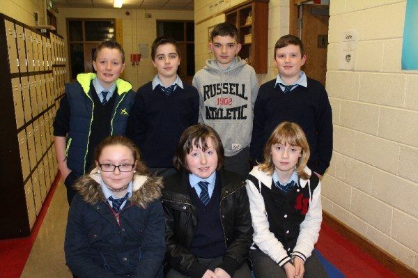 Students from Ashford Primary School at the launch of Young Scientist Week in Desmond College.  These students have entered a project investigating the most effective remedy for indigestion.  They were supported in their research by staff and students in Desmond College.