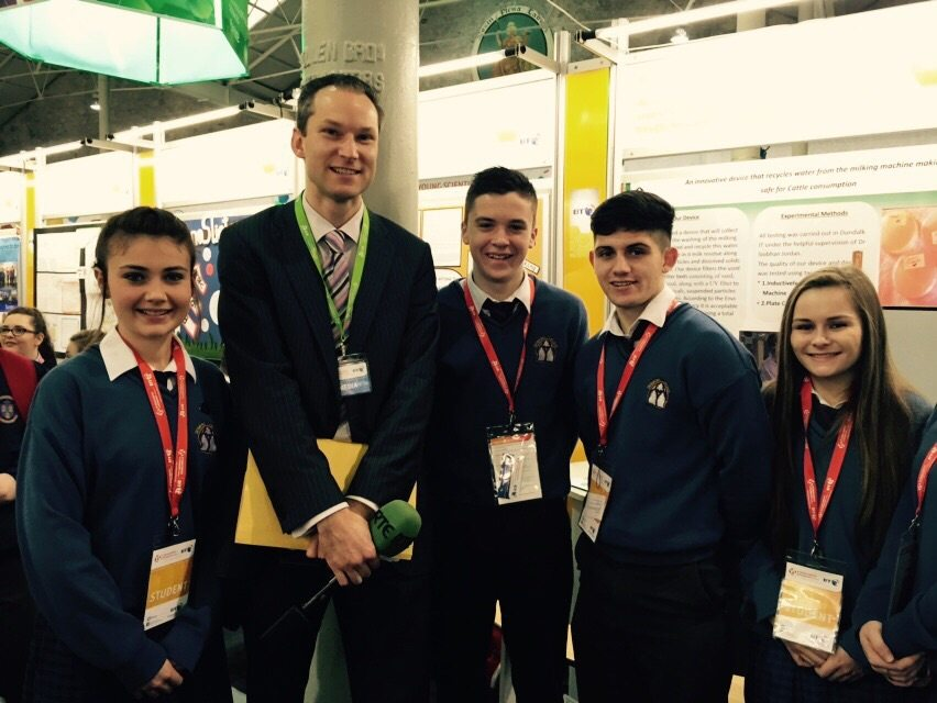Desmond College Students Enjoying the BT Young Scientist at the RDS with RTE