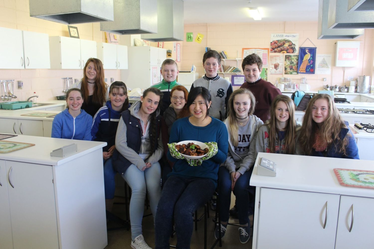 Risa cooked some Japanese dishes for first year students with the help of her teacher Ms Edel Boohan