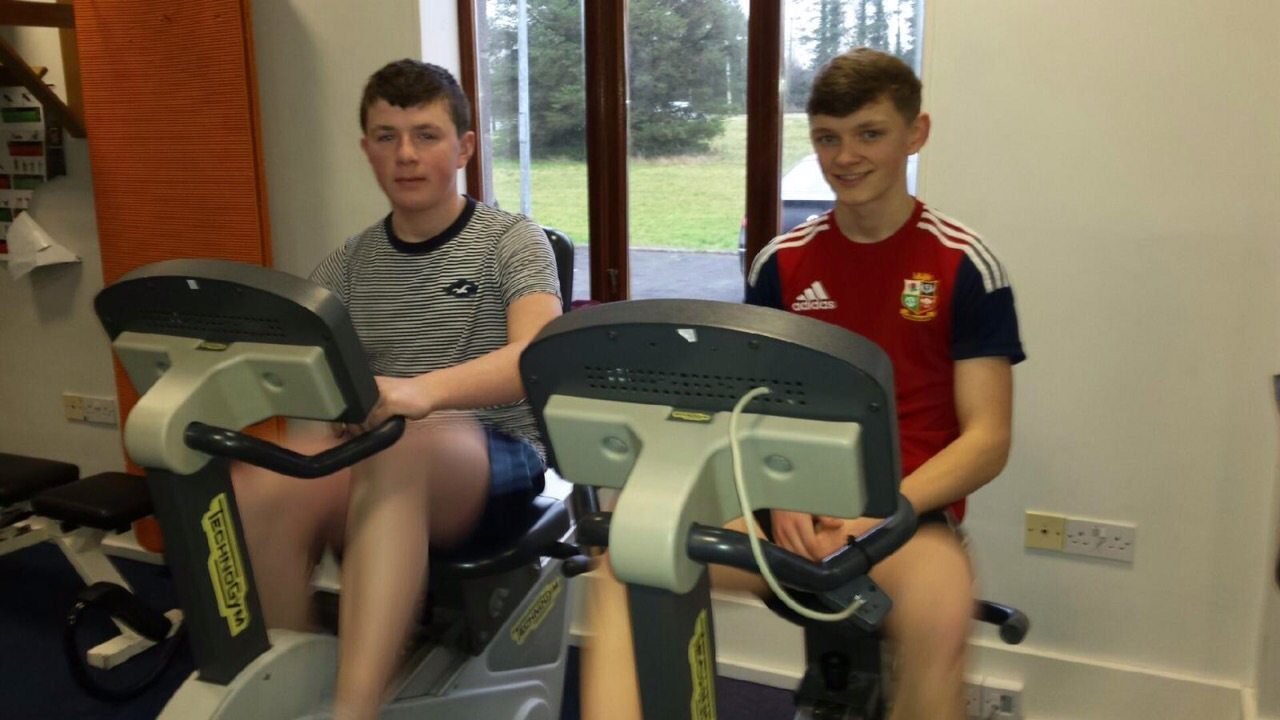 Cian Cremin and John McCoy enjoy Gym Participation in Killeline