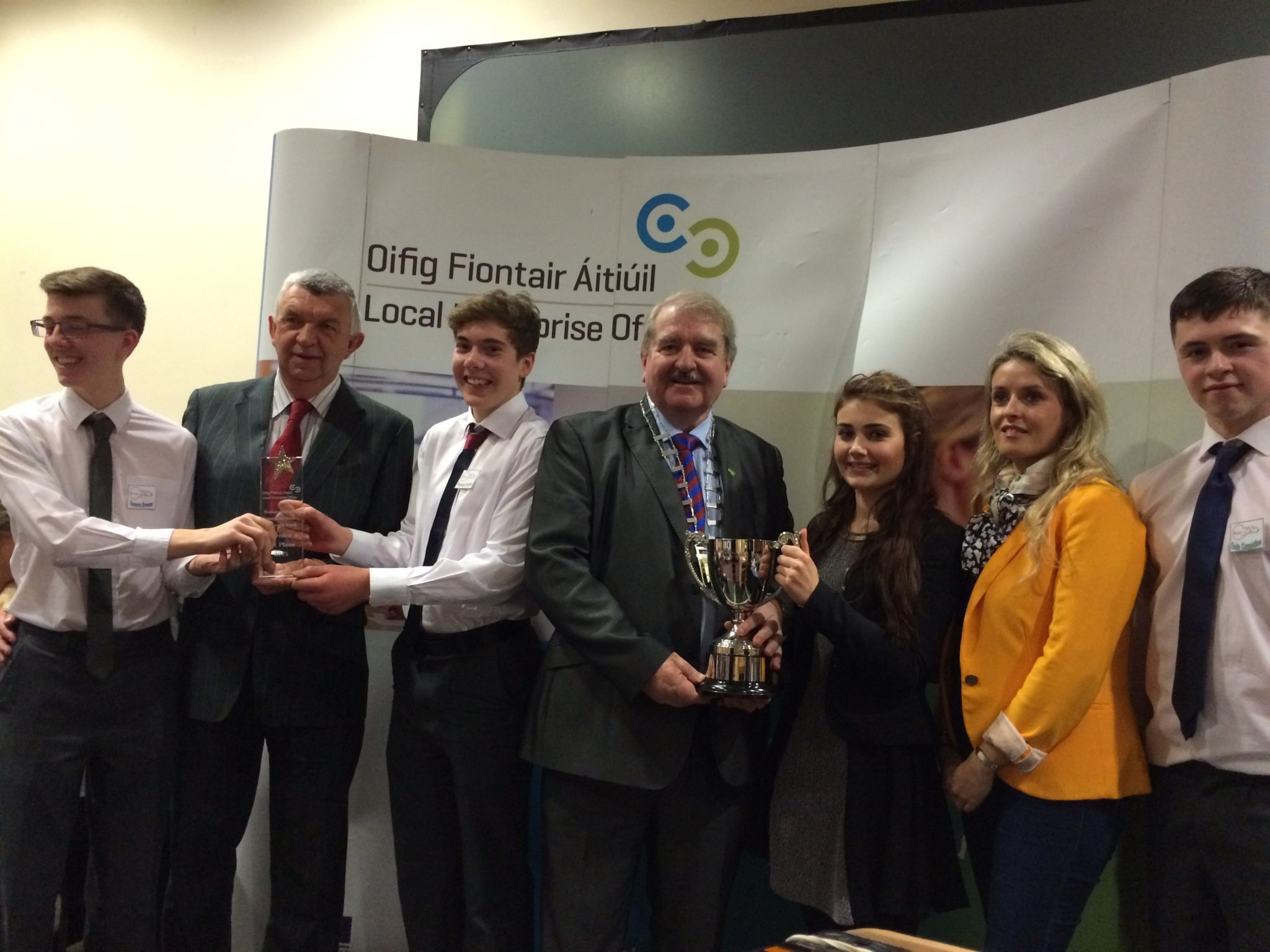 Eamon Browne, Eamonn Ryan (CEO Enterprise Board), Seamus Hurley, Kevin Sheehan (Mayor),Emma Herbert, Heather Supple (Limerick Enterprise Board), Eoin Considine