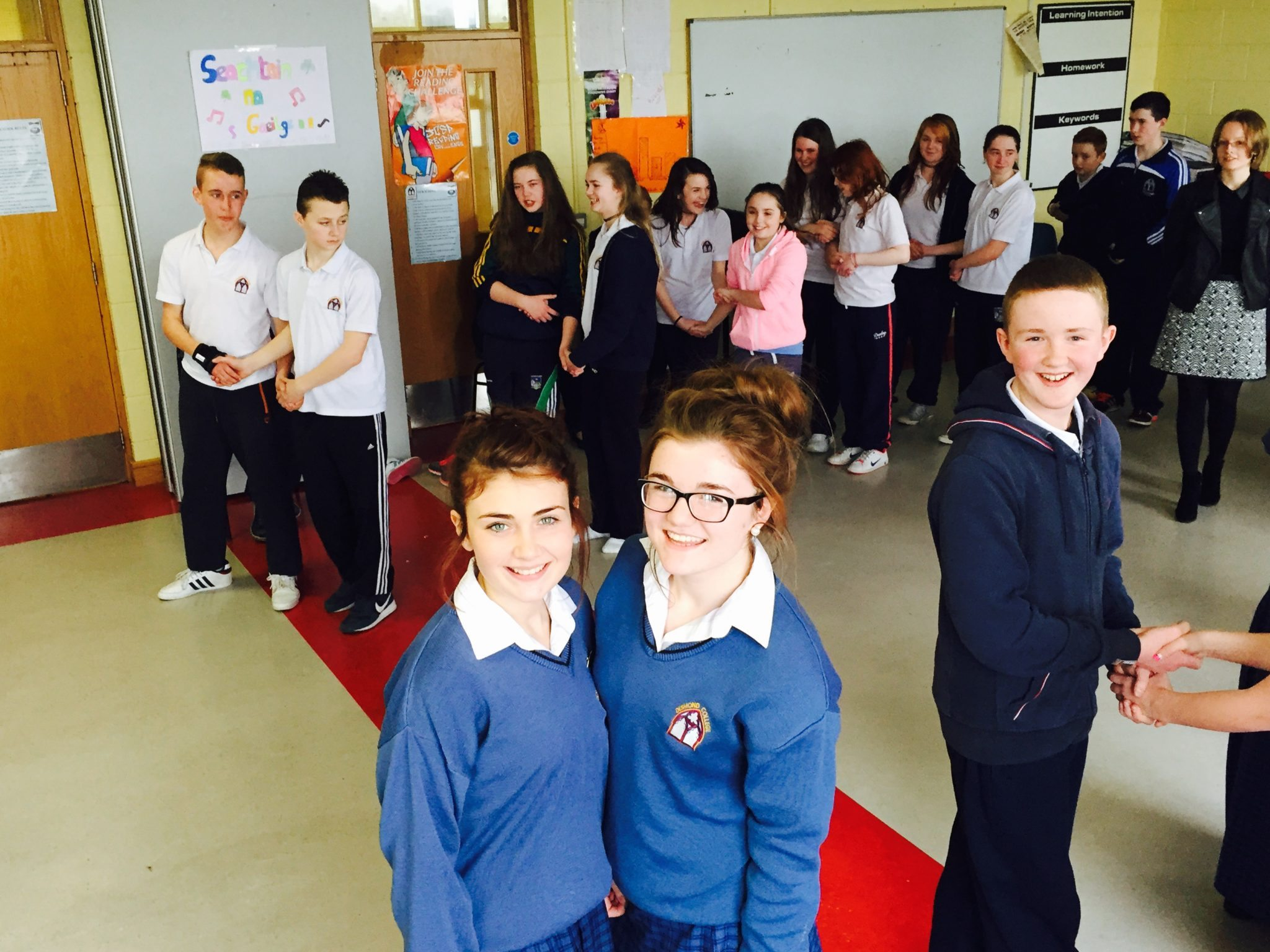 Emma Herbert and Claire Mortell enjoy their mentoring role at the Irish Céilí for First Years.