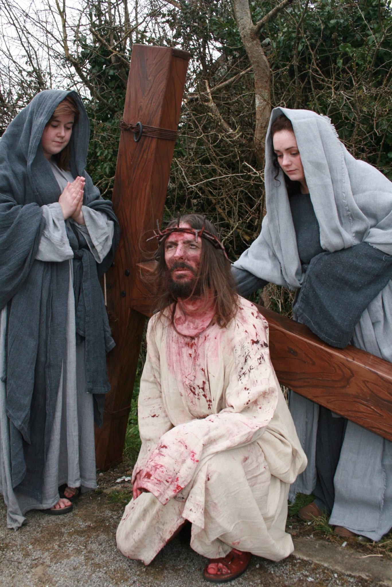 Mr Sean Shields and a team of 50 strong actors and backroom staff perform The Way of the Cross, with the Legion Ireland, the Roman Re-Enactment Society, Brian Smith as Jesus Christ