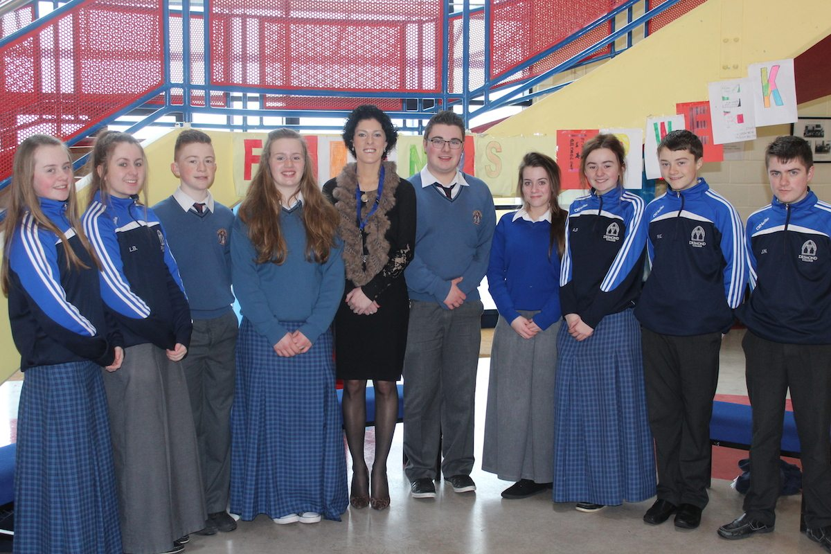 The Student Council: Cyberbullying Talk 2015: Caoimhe Danaher, Leah Barry, Jack Corkery, Breda Magner, Dr Maureen Griffin, James O Connor, Rhea Crowley, Alice Duffy, Micheal Collins, Jack Nash