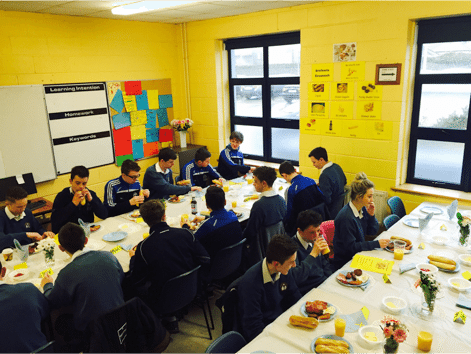 Third Year Students enjoy an Irish Breakfast Morning to celebrate the Irish Language
