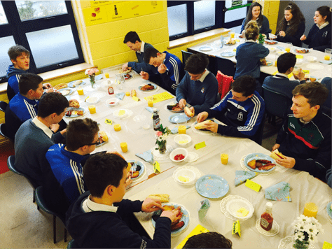 Seachtain na Gaeilge 2015: Third Year Students enjoy an Irish Breakfast Morning to celebrate the Irish Language