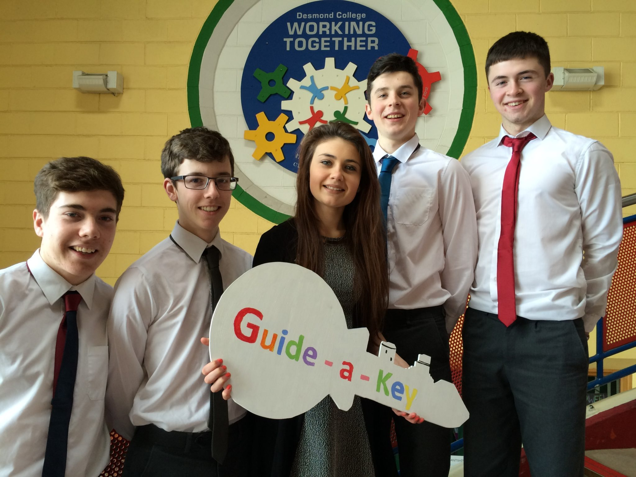Young Enterprise 2015 : Seamus Hurley, Eamonn Browne, Emma Herbert, Diarmuid Curtin and Eoin Considine.