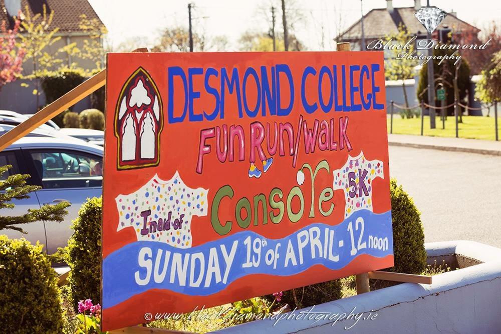 Desmond College's 5km Fun Run / Walk in Aid of Console, on Sunday 19th April 2015.