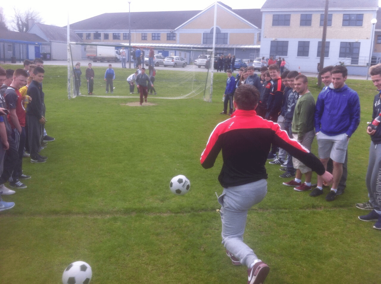 Action Shot from the Penalty Shoot Out at Desmond College Active Schools Week