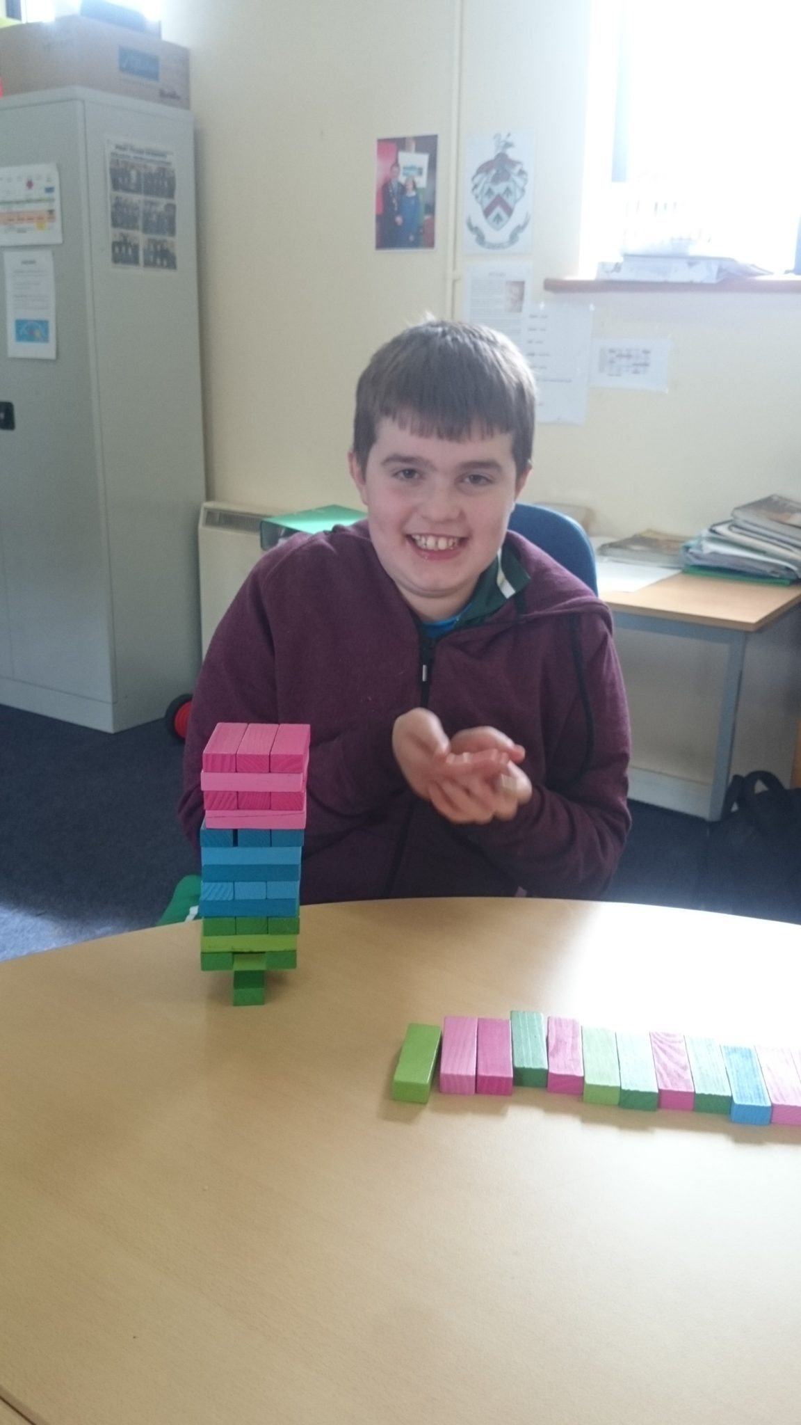 Alan Wallace enjoying the activities of Active Week in Desmond College April 13-17 2015