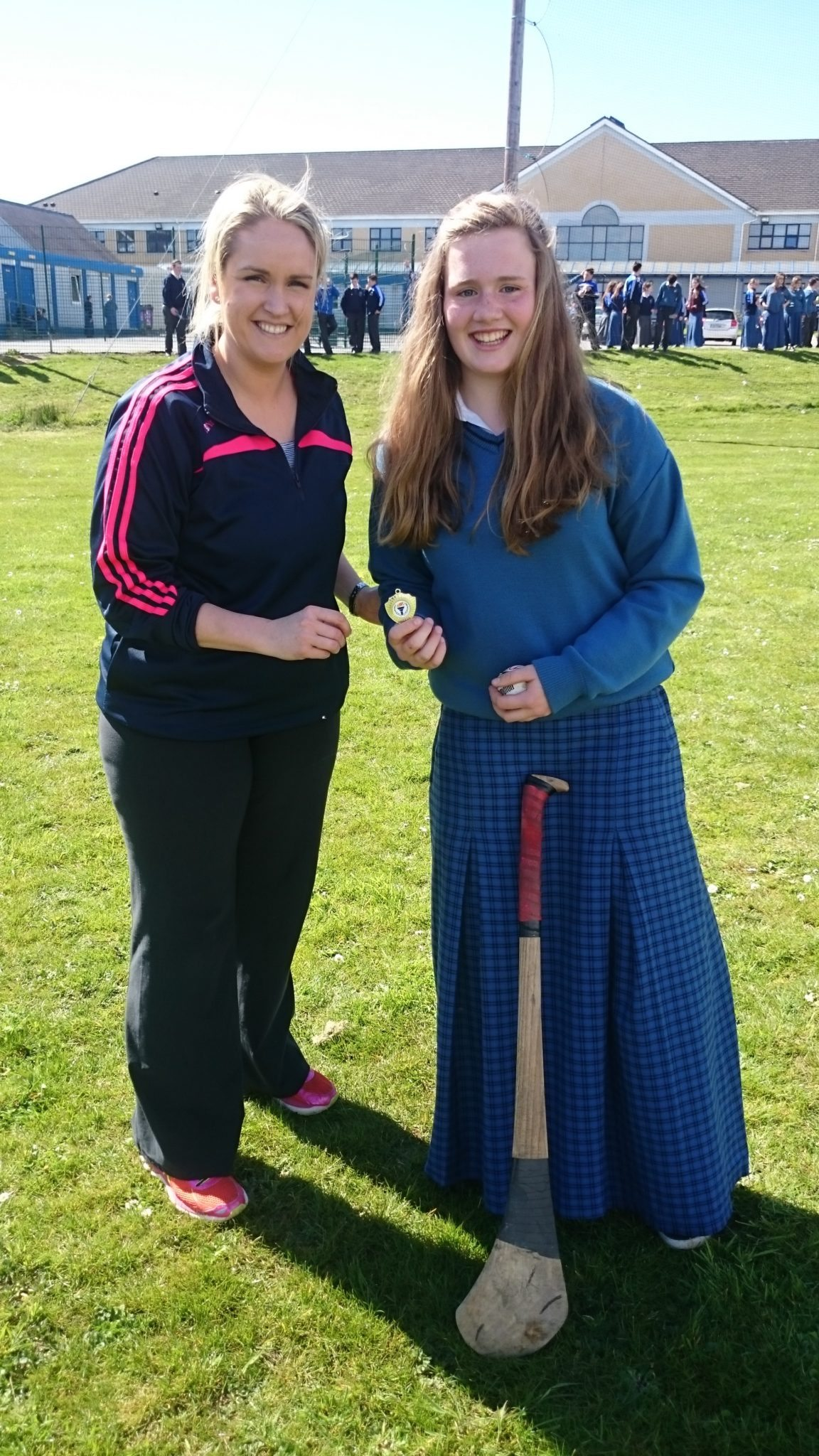Breda Magner, winner of the Desmond College Active School's Week Junior Poc Fada, pictured with Ms Creed