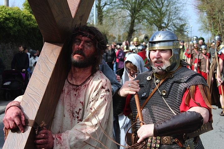 Dramatic Reconstruction of the Passion of Jesus by Desmond College in The Way of the Cross