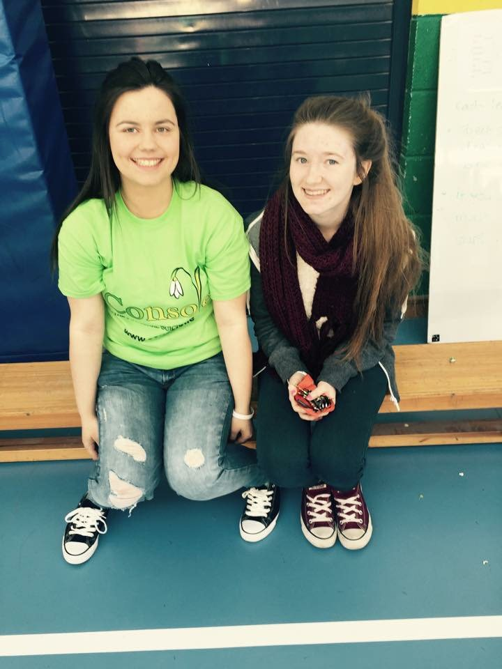 Lauren Moloney and Sara Flatley: Desmond College TY students who helped organise the event
