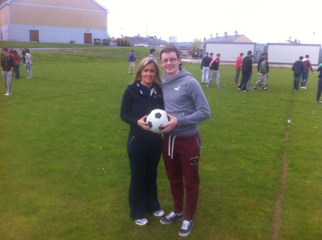 Sean Duffy: the winner of the penalty shoot out with Ms Quaid, Desmond College