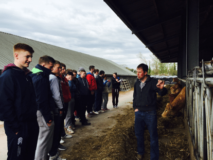 The students get a run down of the Beef Enterprise from Farm Manager Shane Ryan
