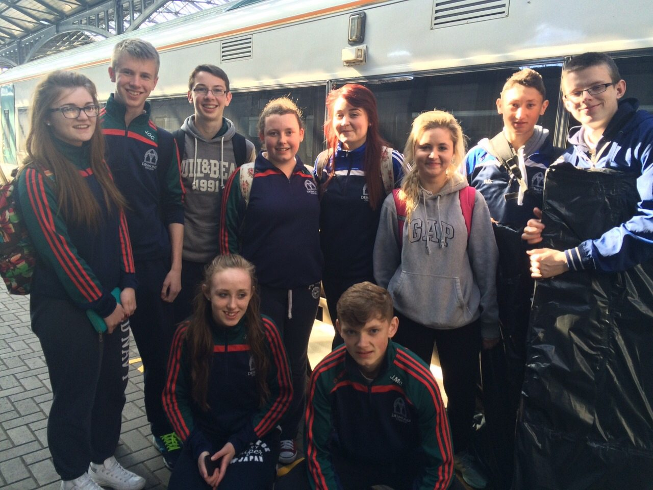 Claire Mortell, Jack O Connor, Cillian McMahon, Patreeze Nugent, Chloe Power, Ava O Connor, Roman Creedon, Conor Reidy, Shauna Hallinan and John McCoy who participated in the PE Exhibition