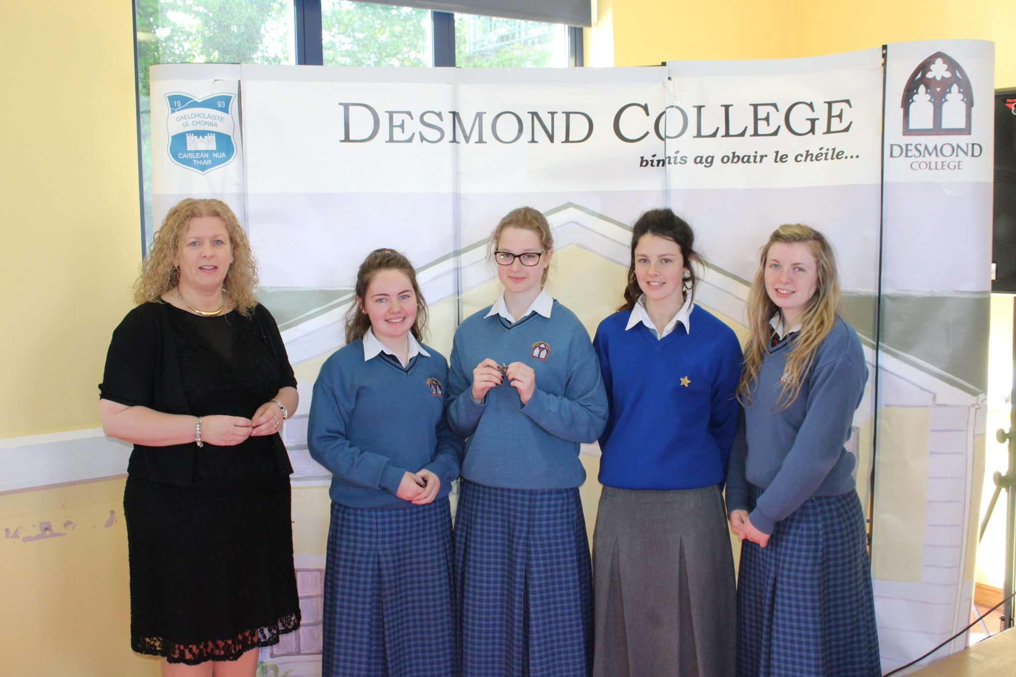 Desmond College Student Awards: May 2015: DEDICATION AND COMMITMENT AWARDS: 5th Year: Ms Gavin Barry with Terri Keane, Eileen Ennulat, Leah Kelly and Julie Cantillon