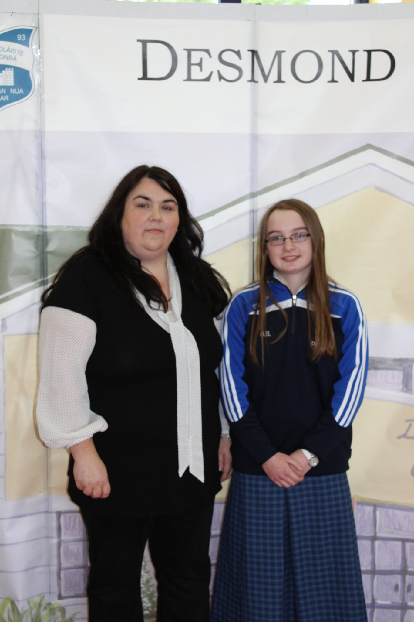 Desmond College Student Awards: May 2015: YEAR HEAD AWARDS : 3rd year : Ms Supple with Hannah Barrett