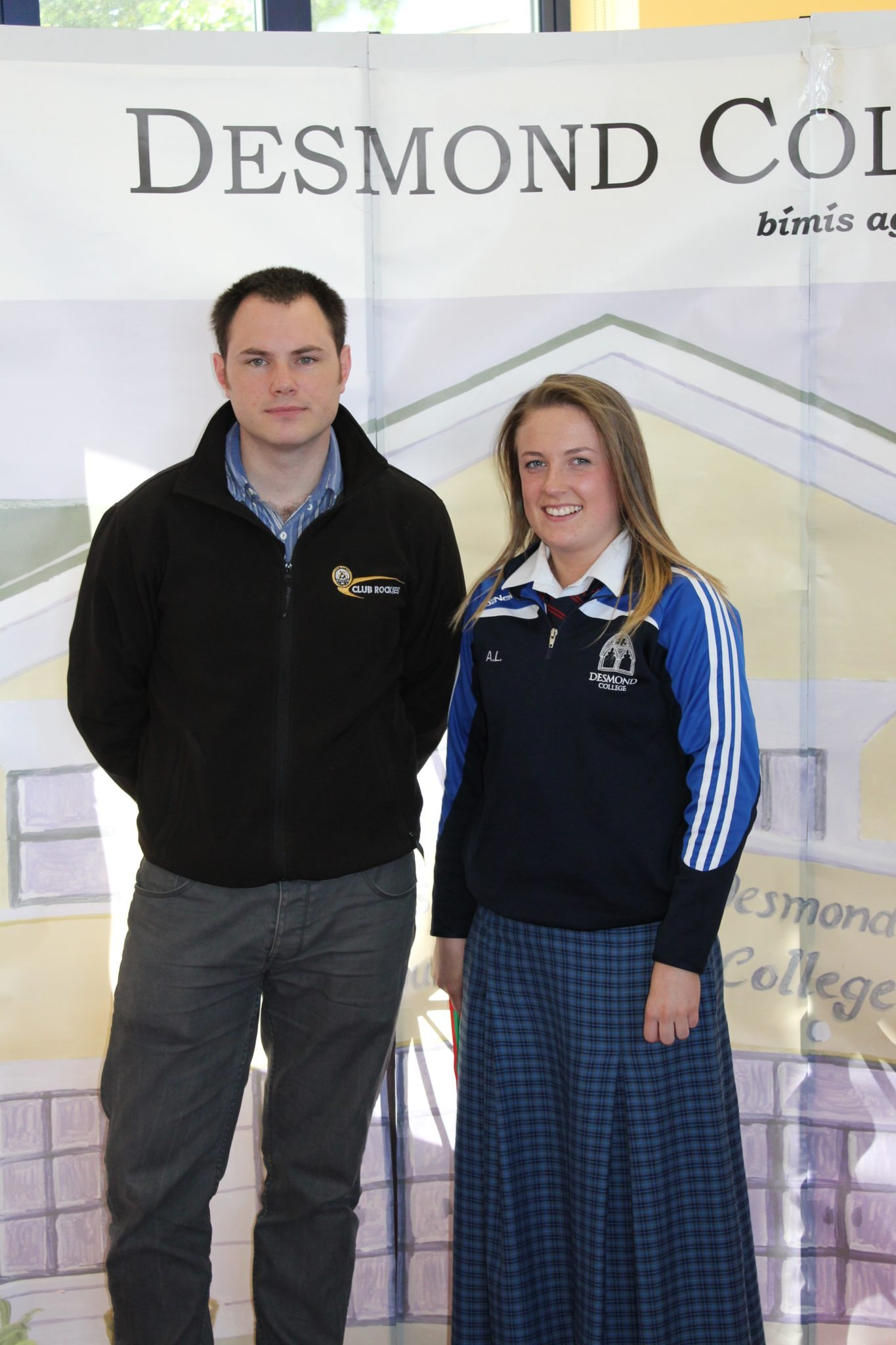 Desmond College Student Awards: May 2015: SPORTS AWARDS 2nd year : Mr King with Aoife Larkin