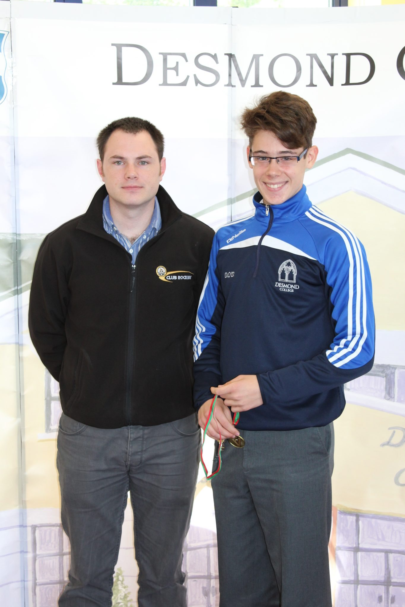 Desmond College Student Awards: May 2015: SPORTS AWARDS 2nd year : Mr King with David O'Donovan