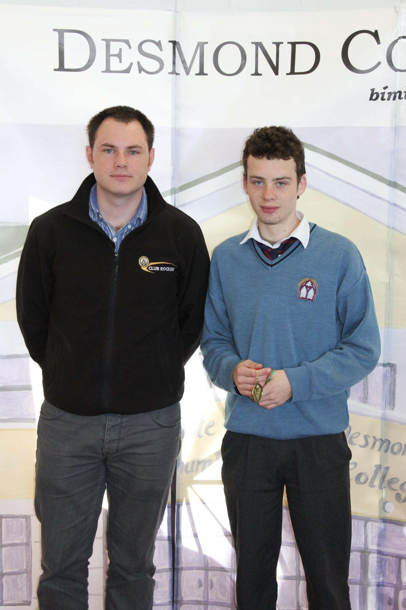 Desmond College Student Awards: May 2015: SPORTS AWARDS 2nd year : Mr King with Paul Moroney
