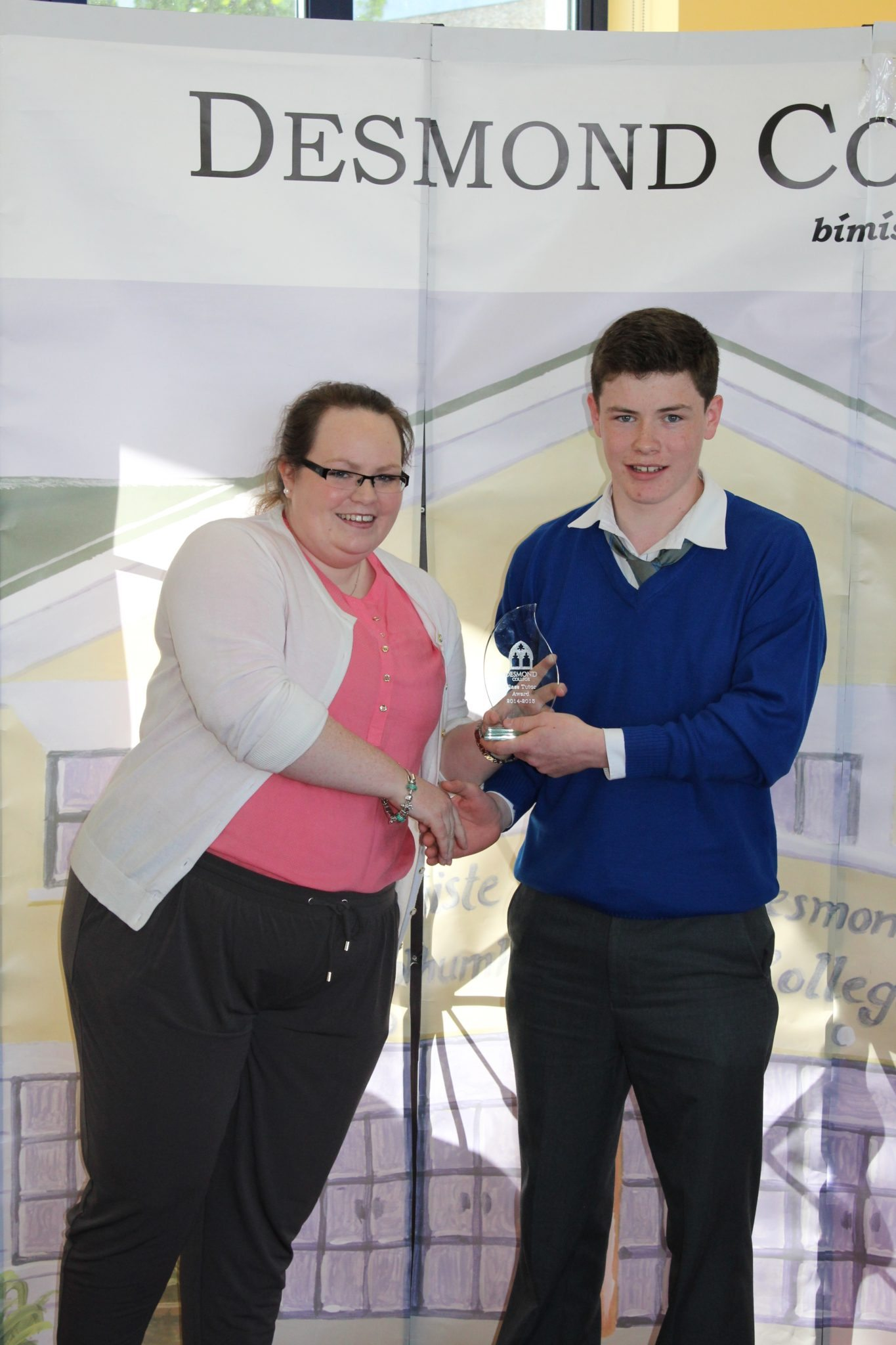 Desmond College Student Awards: May 2015: TUTOR AWARDS 2nd Year : Ms O'Brien with Míchael Murphy