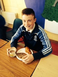 Jack Corkery enjoys some French Breakfast