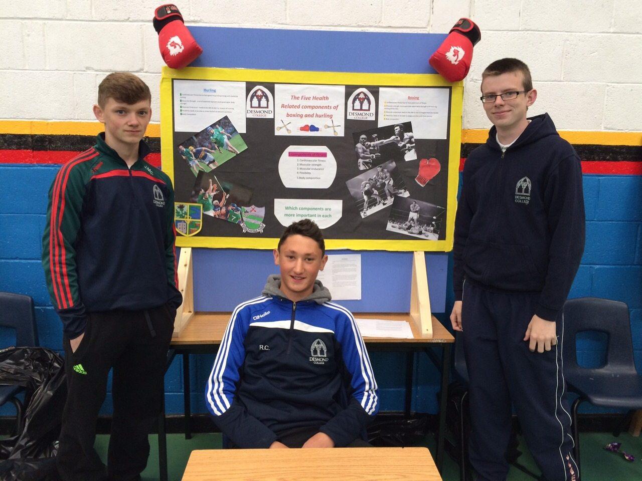 John McCoy, Roman Creedon and Conor Reidy present their project