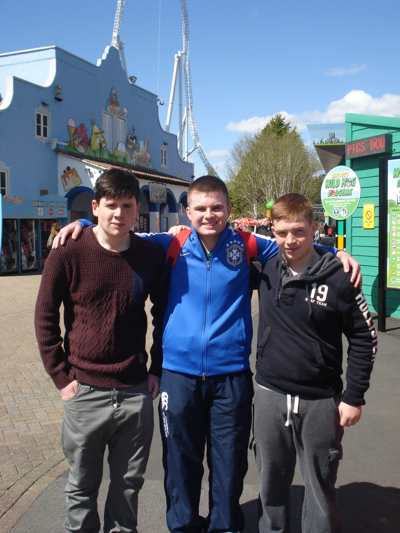 John Scanlon, Robert Meehan and Conor Leahy from Desmond College Limerick on Tour in London