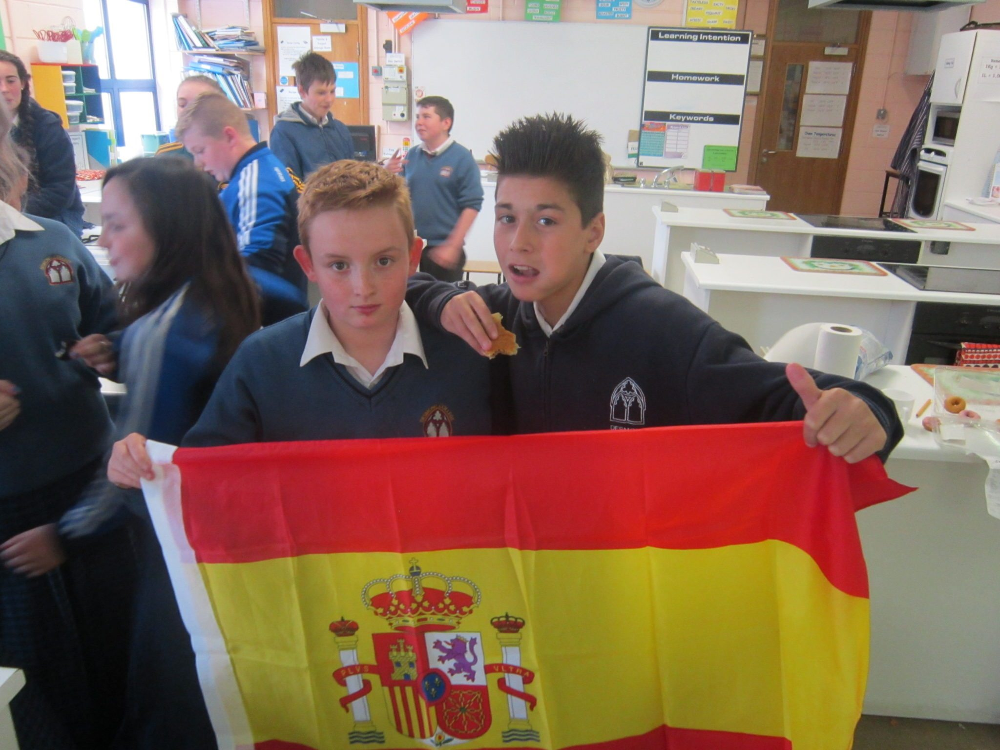 Desmond College Students AJ Donovan and Konrad Papierowski are part of the Desmond College first year students who are learning about Spanish Culture