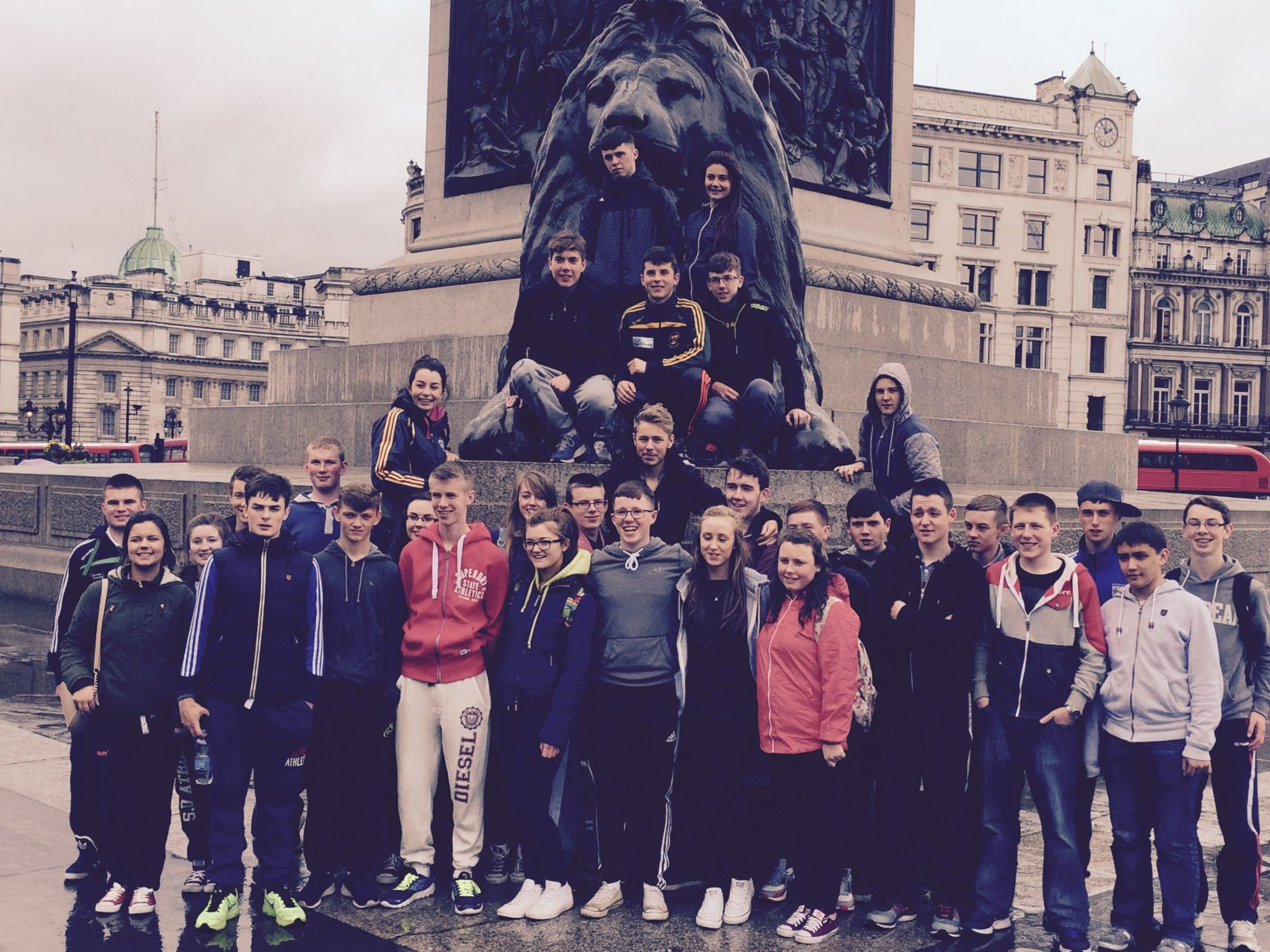 The 2014-2015 Transition Year TY Class of Desmond College Newcastle West Limerick on their School Tour to London; April 2015
