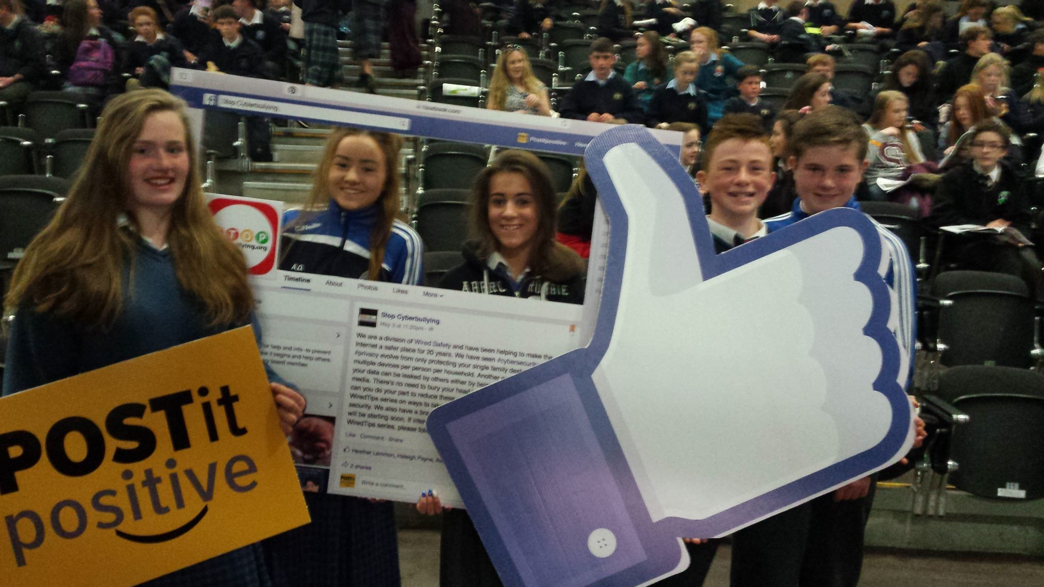 The Global Stop CyberBullying Youth Summit 2015 : Breda Magner, Alice Duffy, Rhea Crowley, Jack Corkery and Danny Moriarty