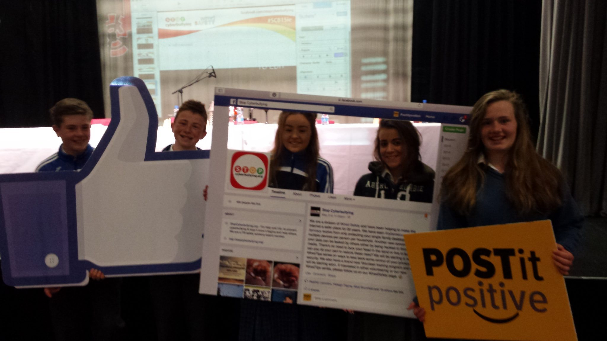 The Global Stop Cyberbullying Youth Summit 2015 : Danny Moriarty, Jack Corkery, Alice Duffy, Rhea Crowley, Breda Magner