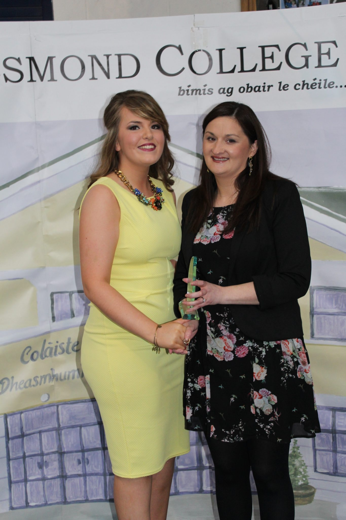 Desmond College Leaving Certificate Graduation 2015: Shannon White with Ms O'Mahony