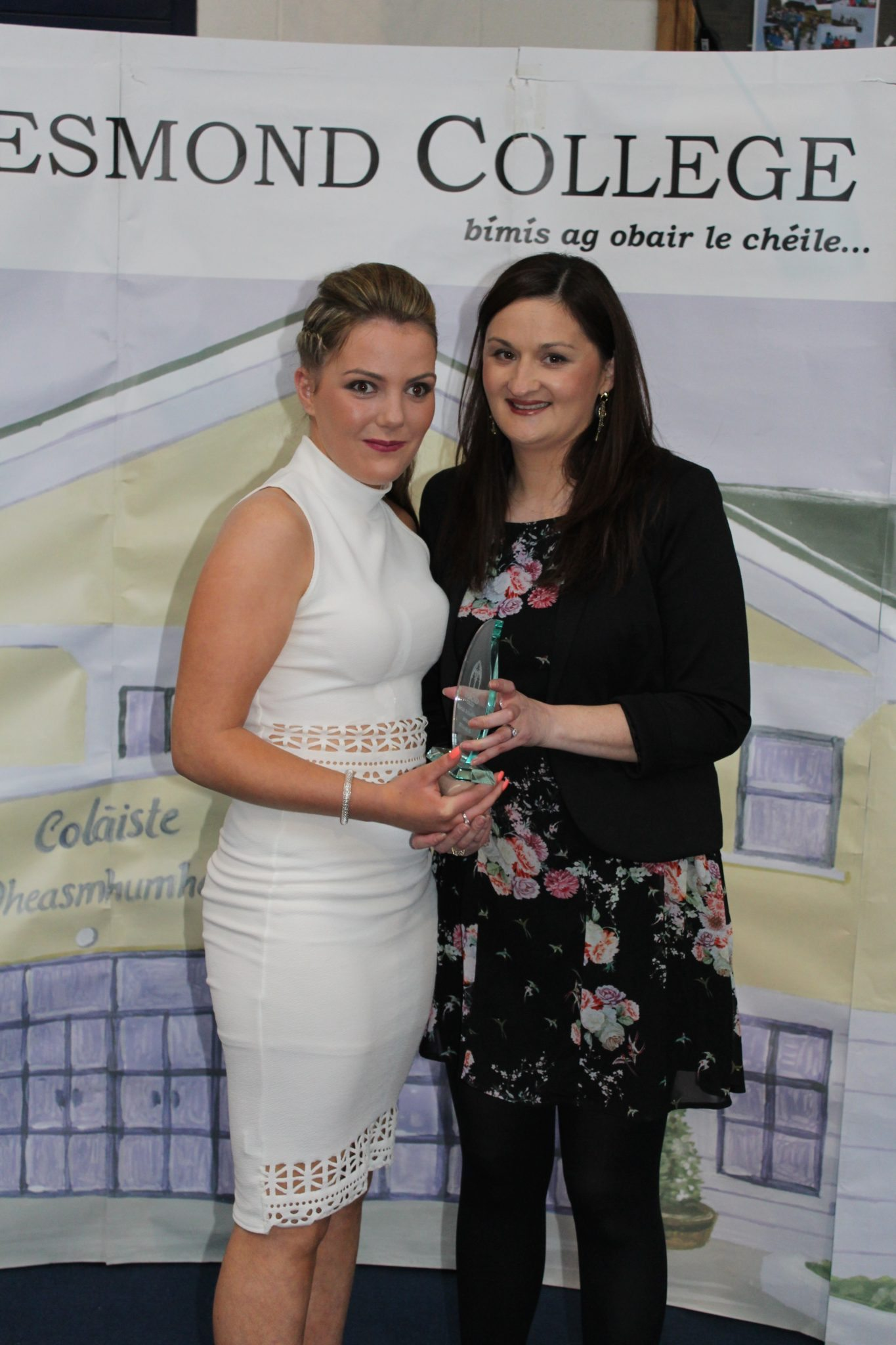 desmond College Leaving Certificate graduation 2015: Cooperation and diligence award: Siobhan Moloney with Ms O'Mahony