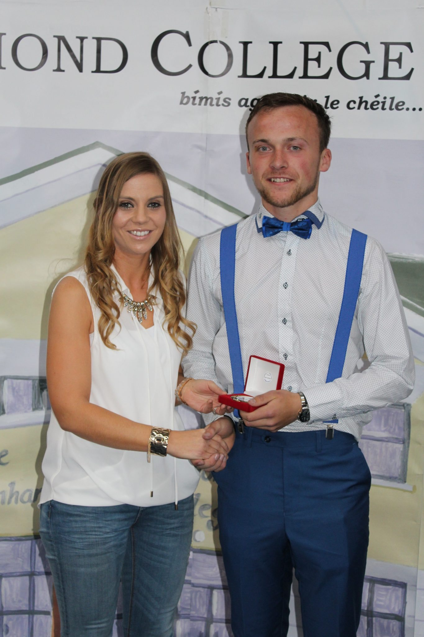 Desmond College Leaving Certificate Graduation : May 2015: Sports Awards: William Hurley with Ms Corkery